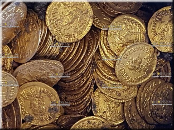в городе Комо археологи нашли несколько сотен золотых монет