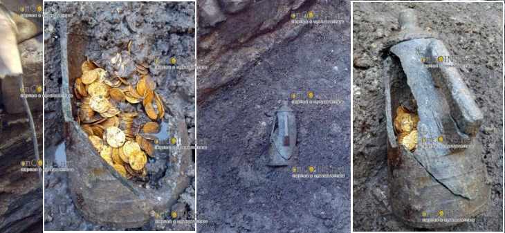 В Италии в городе Комо археологи нашли несколько сотен золотых монет