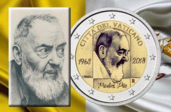 Ватикан монета 2 евро 50-летие со дня смерти Падре Пио
