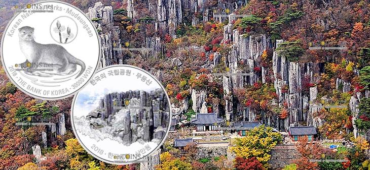 Южная Корея монета 30000 вон Мудегунсан
