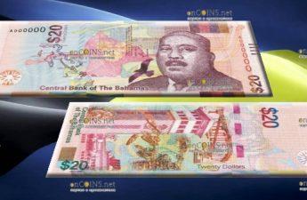 Багамские Острова банкнота 20 долларов 2018