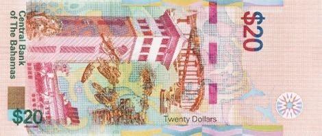 Багамские Острова банкнота 20 долларов 2018, оборотная сторона