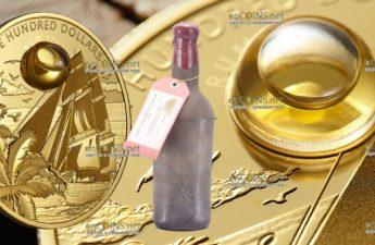 Барбадос монета 100 долларов ром Harewood 1780 года