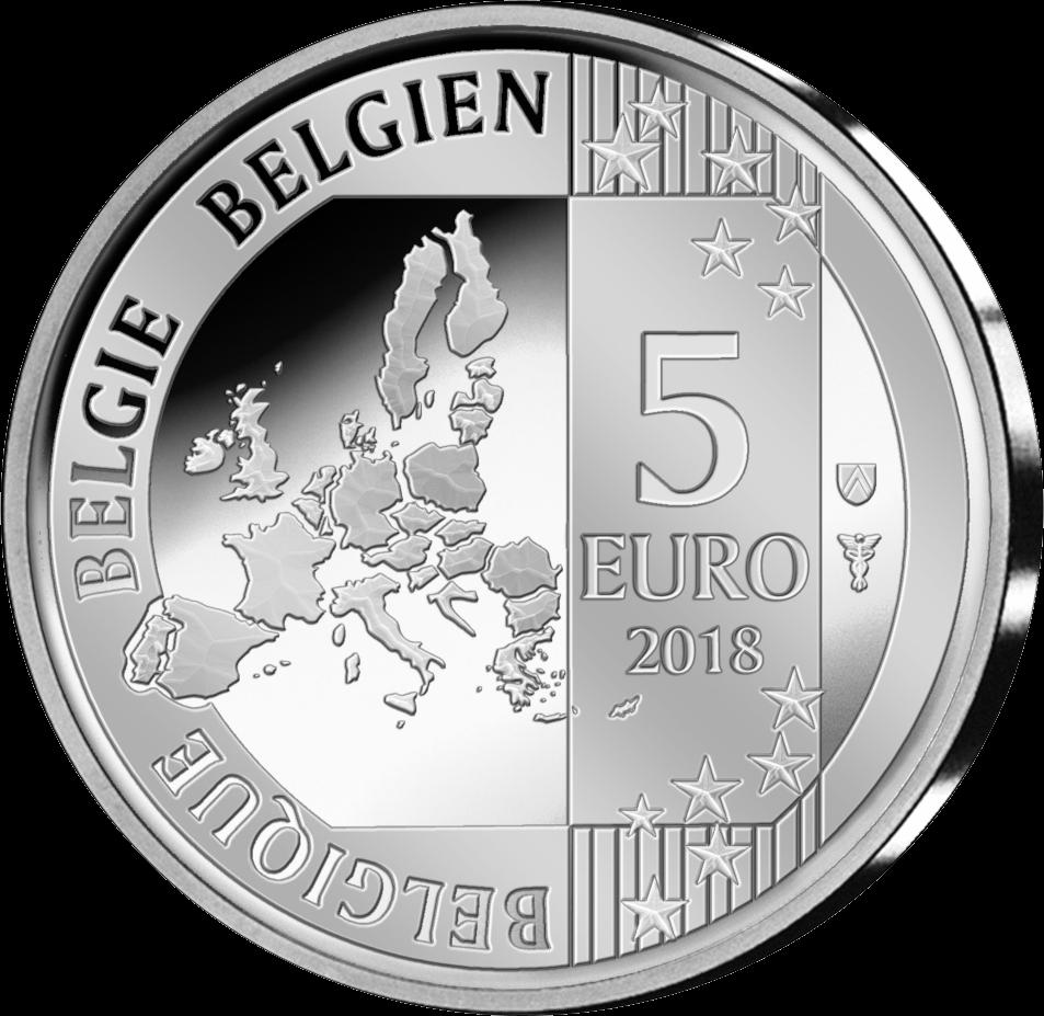 Бельгия монету 5 евро, аверс