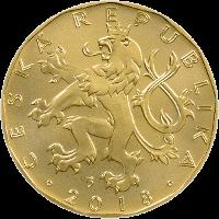 Чехия ходовая монета 20 крон, 2018 год, аверс