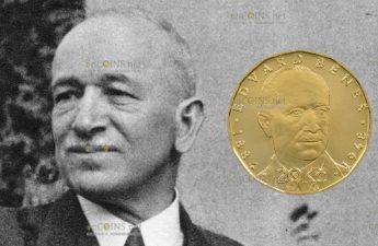 Чехия монета 20 крон Эдвард Бенеш