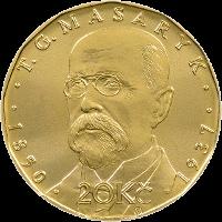 Чехия монета 20 крон Томаш Гарриг Масарик, реверс