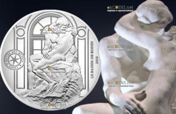 Франция монета 10 евро Поцелуй Родена