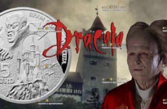Ирландия монетf 15 евро Дракула Брэма Стокера