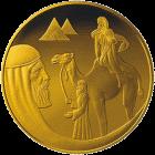 Израиль монета 1 шекель История про Исаака и Ребекку, золото, реверс