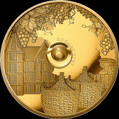 Конго монета 100 франков коньяк Cognac Gautier 1762 года, реверс