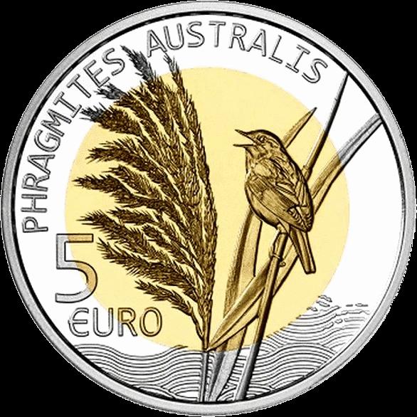 Люксембург монет 5 евро Тростник обыкновенный, реверс