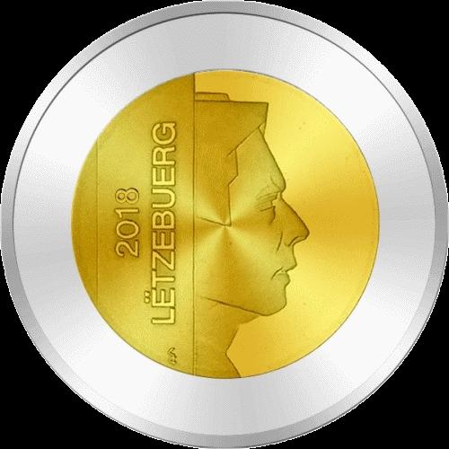 Люксембург монеты серии Флора и фауна Люксембурга 2018, реверс