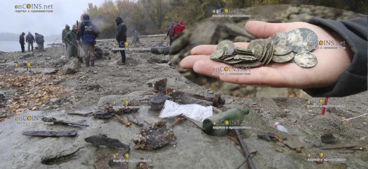 На затонувшем судне, южнее Будапешта, нашли тысячи золотых и серебряных монет