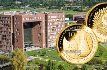 Нидерланды монета 10 евро 100-летие Университета Вагенингена
