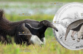 Никарагуа монета 100 кордоба Муравьед