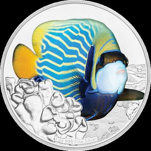Ниуэ монета 2 доллара Морской Ангел, реверс