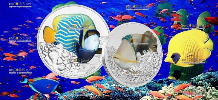Ниуэ монета 2 доллара серии Рифовые рыбы