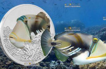 Ниуэ монета 2 доллара Спинорог