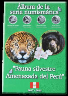 Перу обложка кляйсера серии монет 1 соль Вымирающая дикая природа Перу