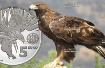 Португалия монета 5 евро Могильник, Ag