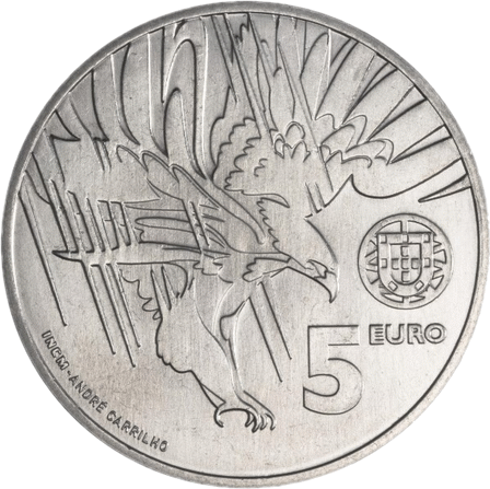 Португалия монета 5 евро Могильник, Cu-Ni, аверс