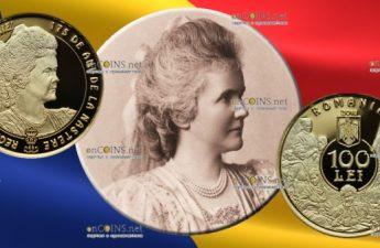 Румыния монета 100 лей 175-летие со дня рождения королевы Румынии Елизаветы