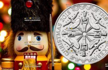 Соединенное Королевство монета 5 фунтов Щелкунчик (Рождество 2018)