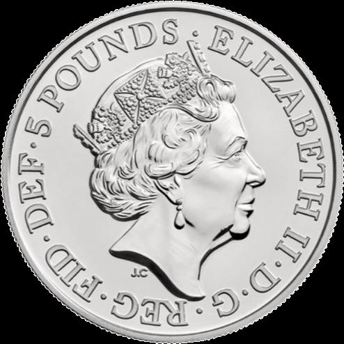 Соединенное Королевство монета 5 фунтов Щелкунчик (Рождество 2018), аверс