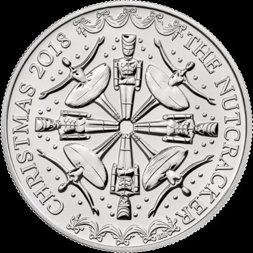 Соединенное Королевство монета 5 фунтов Щелкунчик (Рождество 2018), реверс