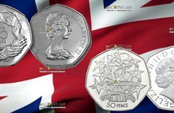 Великобритания выпустит в обращение монету 50 пенсов Brexit