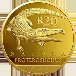 ЮАР монета 20 рандов Протерозух, реверс