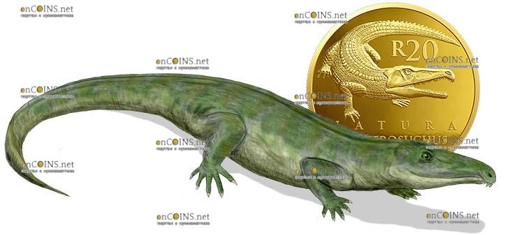 ЮАР монета 20 рандов Протерозух