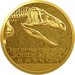 ЮАР монеты серии Натура 2018 год Палеонтология - Динозавры