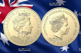 Австралия монета 1 доллар Портрет на австралийских монетах алюминиевая бронза 2018