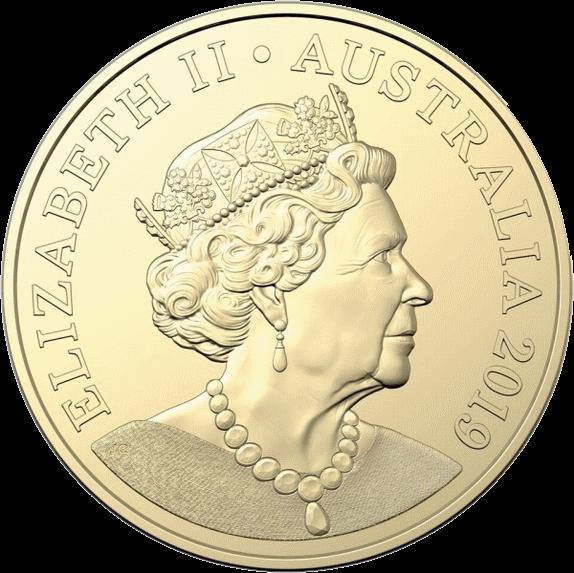 Австралия монета 1 доллар Портрет на австралийских монетах алюминиевая бронза 2018, аверс