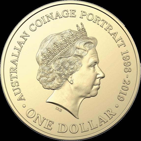 Австралия монета 1 доллар Портрет на австралийских монетах алюминиевая бронза 2018, реверс