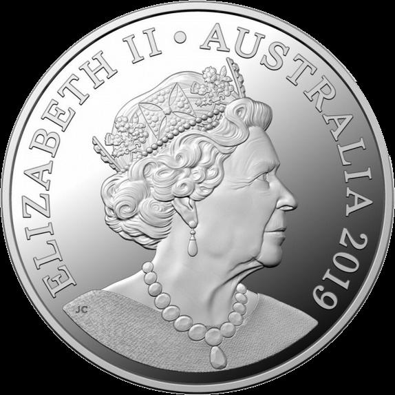 Австралия монета 1 доллар Портрет на австралийских монетах серебро 2018, аверс