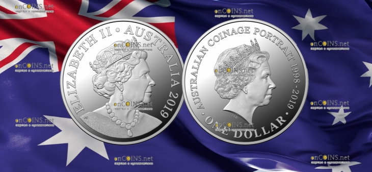 Австралия монета 1 доллар Портрет на австралийских монетах серебро 2018