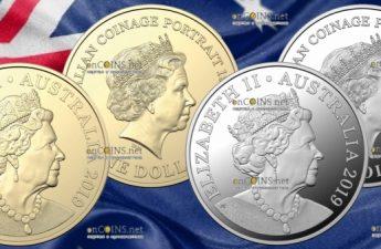 Австралия монеты 1 доллар Портрет на австралийских монетах 2018