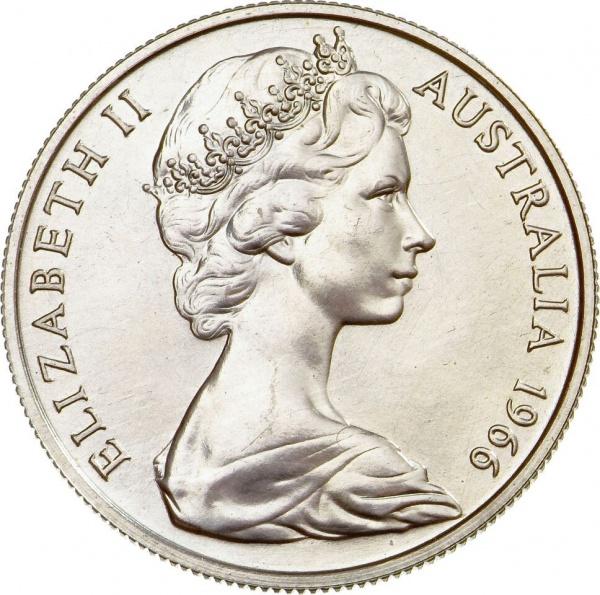Австралия, портрет Ее Величества Королевы Елизаветы II работы Arnold Machin