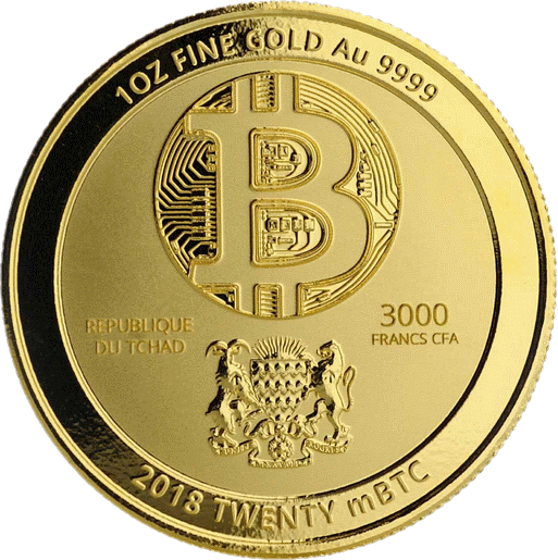 Чад золотая монета 3000 франков КФА Синий Дракон, аверс