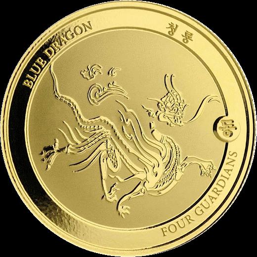 Чад золотая монета 3000 франков КФА Синий Дракон, реверс