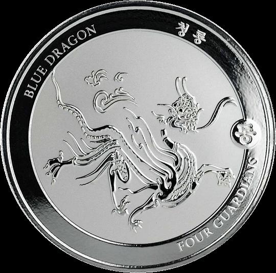 Чад золотая монета 500 франков КФА Синий Дракон, реверс