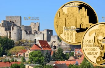 Чехия монета 5000 крон Замок Раби