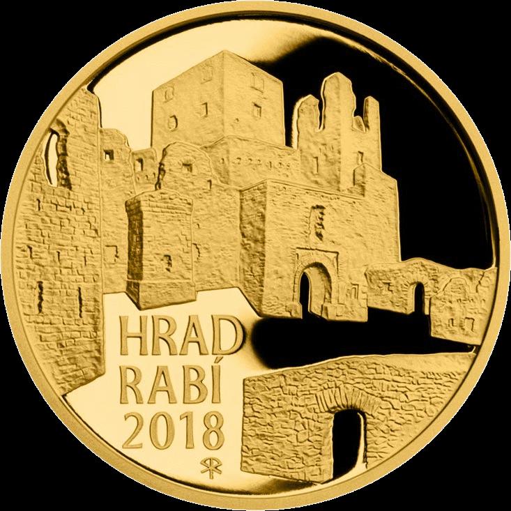 Чехия монета 5000 крон Замок Раби, реверс