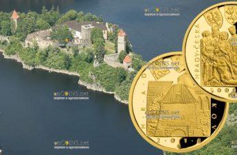 Чехия монета 5000 крон Замок Звиков