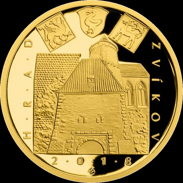 Чехия монета 5000 крон Замок Звиков, реверс