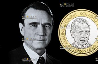 Финляндия монета 5 евро Мауно Хенрик Койвисто