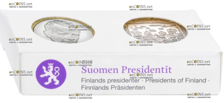 Финляндия монета 5 евро Мауно Хенрик Койвисто, подарочная упаковка